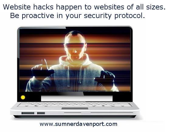 Hacks can happen to any size website