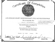 Certification of Completion for Child Advocates
