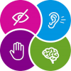 icons for sight hearing, cognitive and mobility